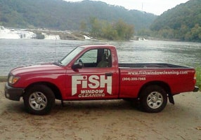 Fish Window Cleaning truck