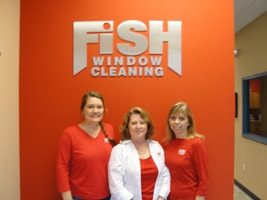 Fish Window Cleaning office staff