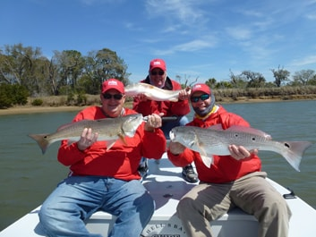 Owner, Nick Hrawnowsky, CEO, Mike Merrick, and Doug Apt fishing