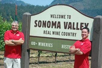 Brian Gawick, Owner, and Duane Kasparek in Sonoma Valley