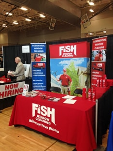 Fish Window Cleaning St. Paul Trade Show Booth
