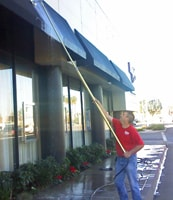 Cleaning Storefront Awnings