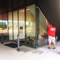 Fish Window Cleaning Northwest Arkansas Working in Downtown