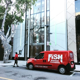 Fish Window Cleaning Miami Cleaning Storefront With Water-Fed Pole