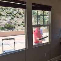 Cleaning Windows Of A San Diego Home