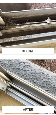 Before & After Window Track Cleaning