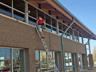 Fish Window Cleaning Aurora CO Cleaning Exterior Church Windows