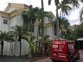 Cape Coral FL Residence and Fish Window Cleaning Van
