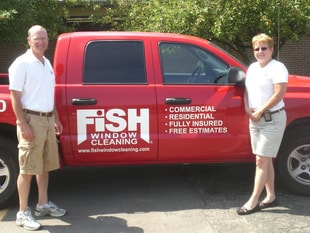 Joe & Bridget Lang - Owners, Fish Window Cleaning
