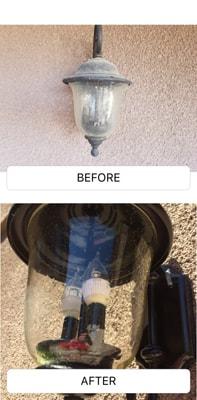 Light Fixture Before & After