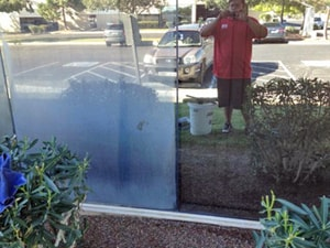 Before & After Window Cleaning by Fish Window Cleaning Tucson