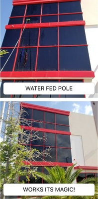 Before & After Water-Fed Pole