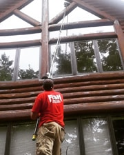 Cleaning Windows of a Wausau WI Cabin